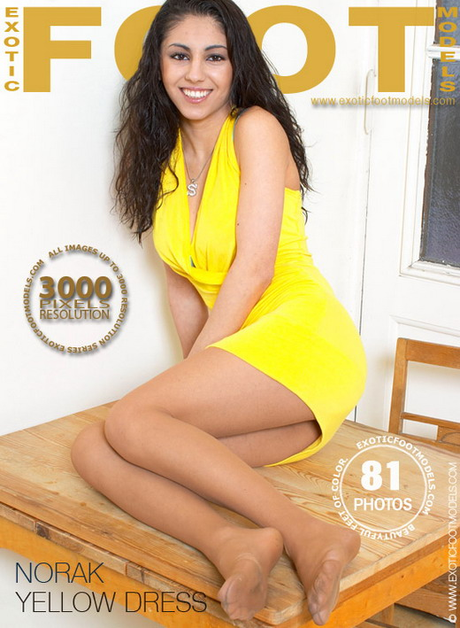 Norak - `Yellow Dress` - for EXOTICFOOTMODELS