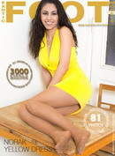 Norak in Yellow Dress gallery from EXOTICFOOTMODELS