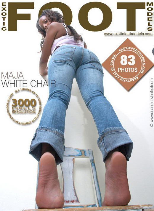 Maja in White Chair gallery from EXOTICFOOTMODELS