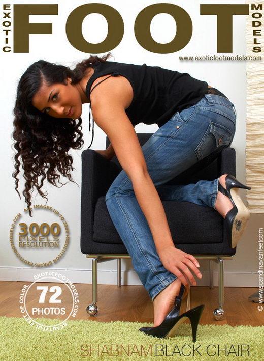 Shabnam - `Black Chair` - for EXOTICFOOTMODELS
