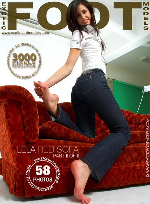 Lela - `Red Sofa - Part 2` - for EXOTICFOOTMODELS
