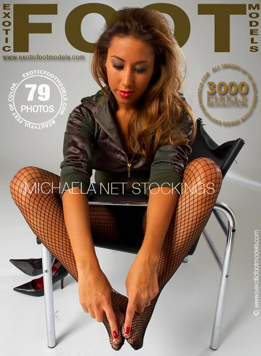 Michaela - `Net Stockings` - for EXOTICFOOTMODELS