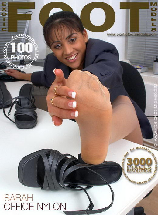 Sarah - `Office Nylon` - for EXOTICFOOTMODELS