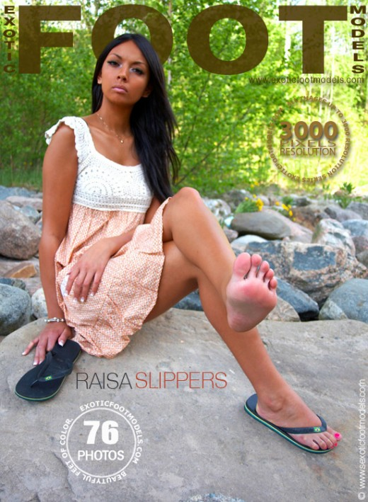 Raisa - `Slippers` - for EXOTICFOOTMODELS