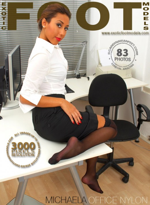 Michaela - `Office Nylon` - for EXOTICFOOTMODELS