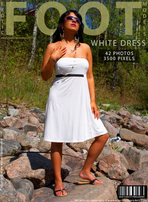 Sanaz - `White Dress` - for EXOTICFOOTMODELS