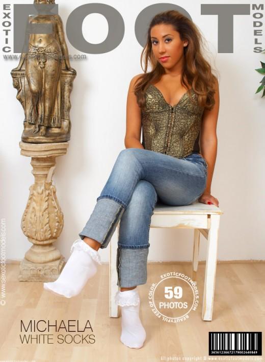 Michaela G - `White Socks` - for EXOTICFOOTMODELS