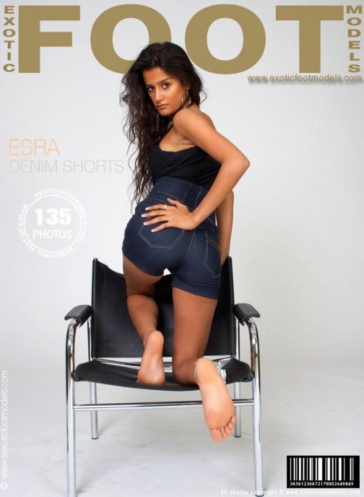 Esra - `Denim Shorts` - for EXOTICFOOTMODELS
