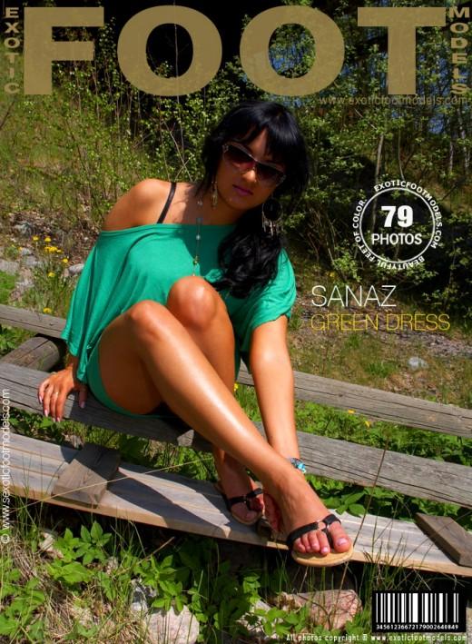 Sanaz - `Green Dress` - for EXOTICFOOTMODELS