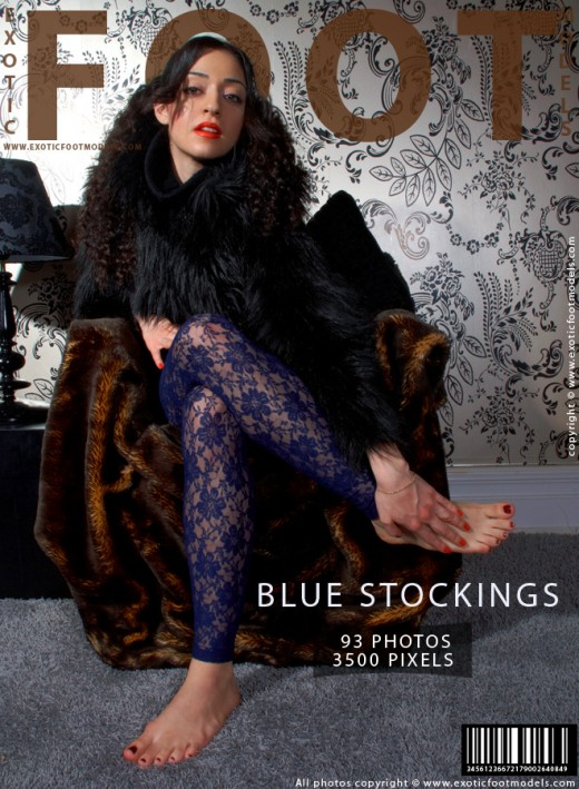 Yasaman - `Blue Stockings` - for EXOTICFOOTMODELS
