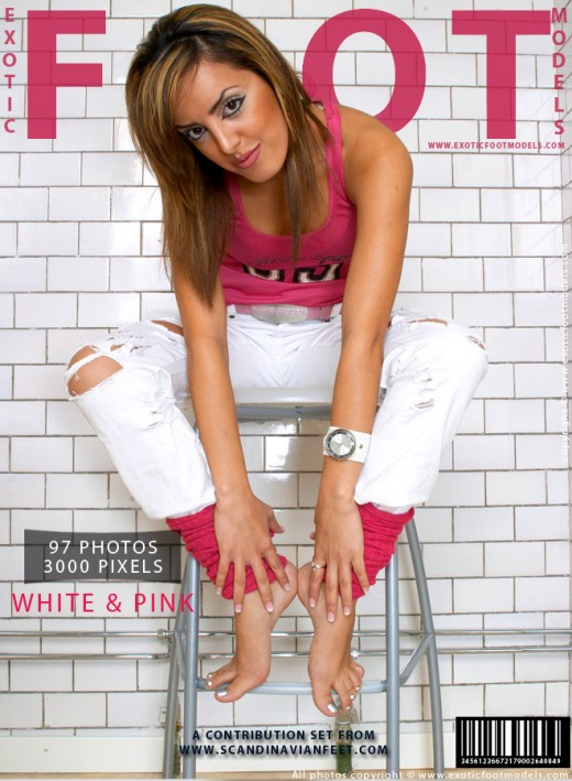 Amira - `White & Pink` - for EXOTICFOOTMODELS