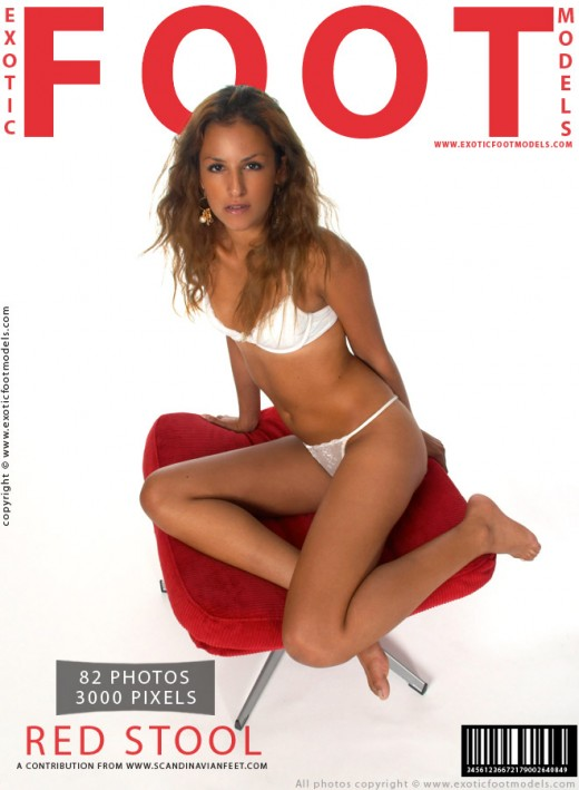 Maria L - `Red Stool` - for EXOTICFOOTMODELS