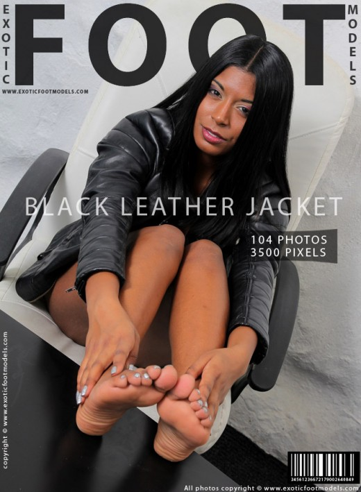 Mikaela in Black Leather Jacket gallery from EXOTICFOOTMODELS