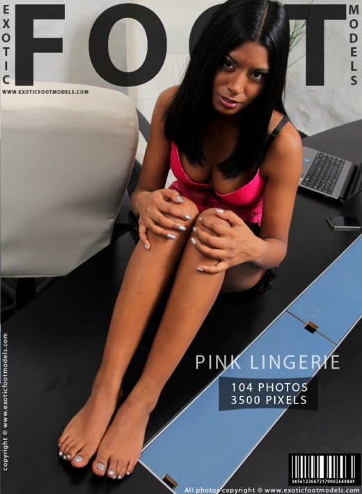 Mikaela - `Pink Lingerie` - for EXOTICFOOTMODELS