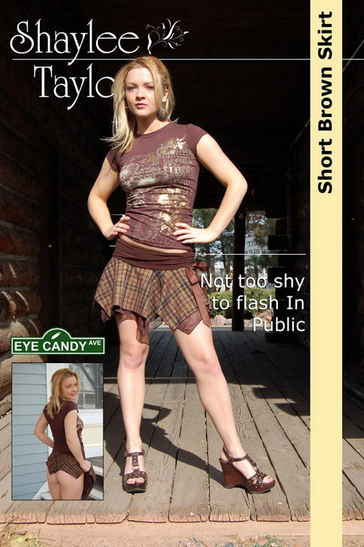 Shaylee Taylor - `#036 - Short Brown Skirt` - for EYECANDYAVENUE ARCHIVES