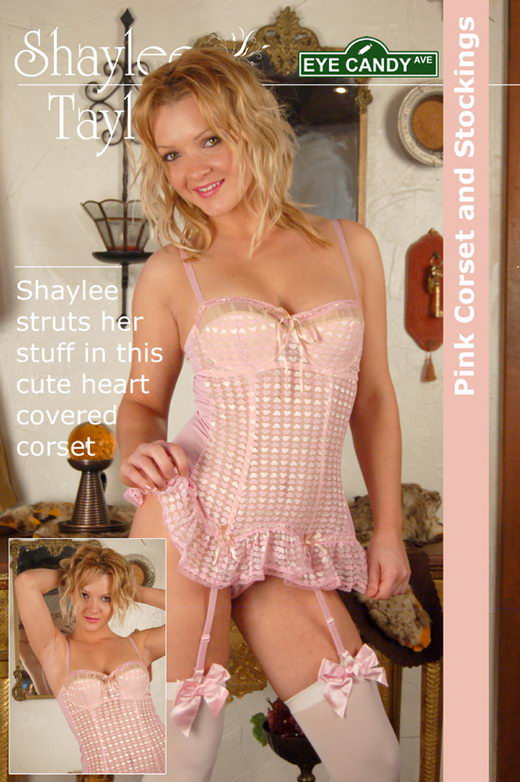 Shaylee Taylor - `#082 - Pink Corset and Stockings` - for EYECANDYAVENUE ARCHIVES