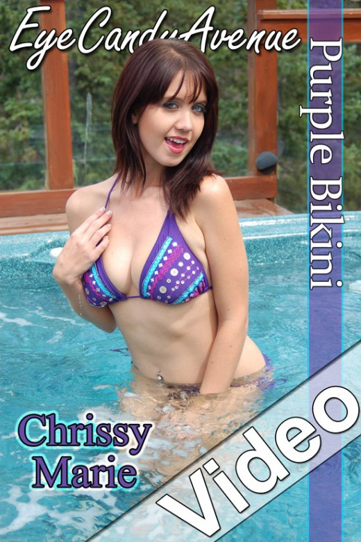 Chrissy Marie - `#619 - Purple Bikini` - for EYECANDYAVENUE ARCHIVES