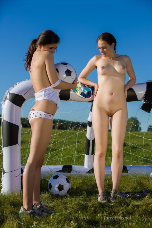 Topless soccer video 4