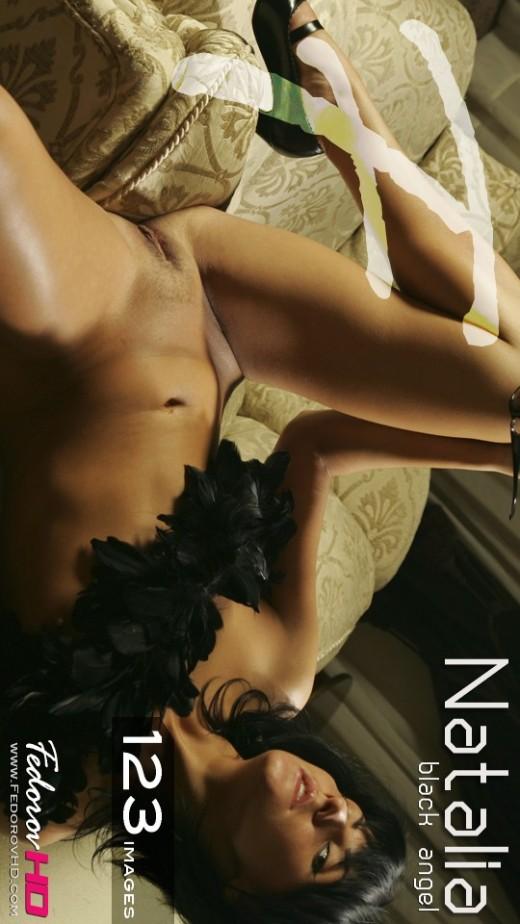Natalia - `Black Angel` - by Alexander Fedorov for FEDOROVHD