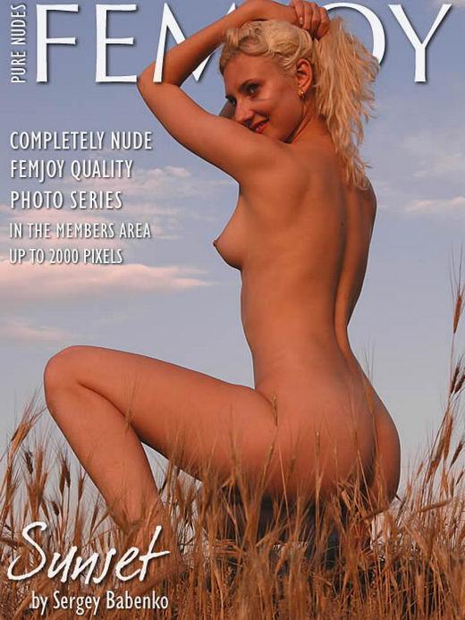 Vicky - `Sunset` - by Sergey Babenko for FEMJOY ARCHIVES