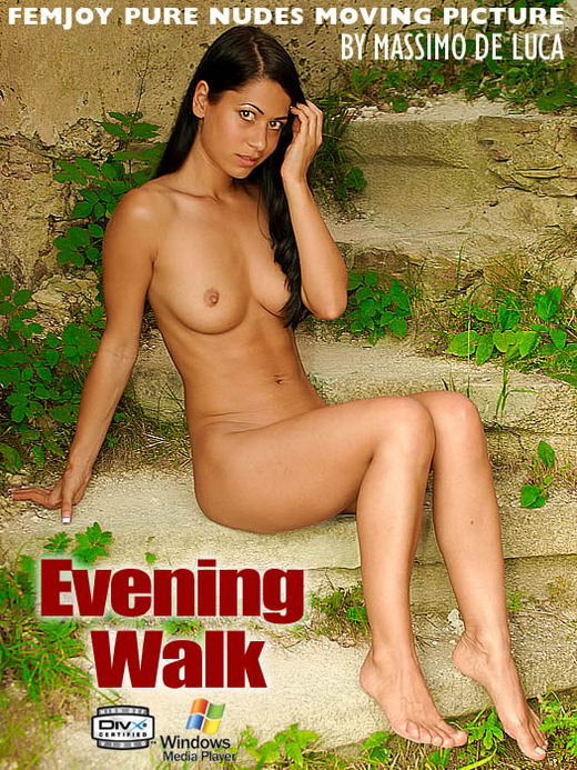 Christina in Evening Walk video from FEMJOY ARCHIVES by Massimo De Luca