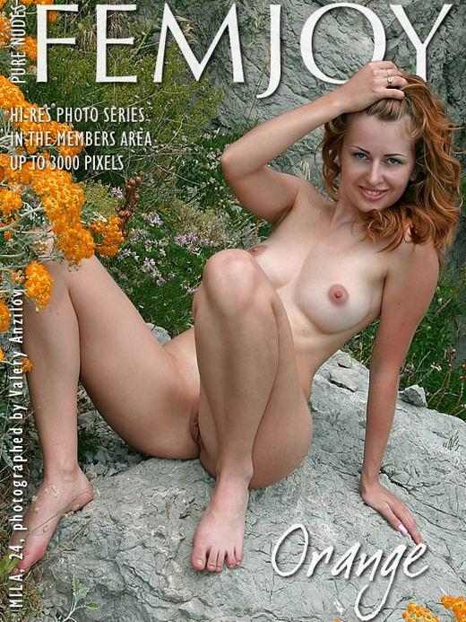 Mila - `Orange` - by Valery Anzilov for FEMJOY ARCHIVES