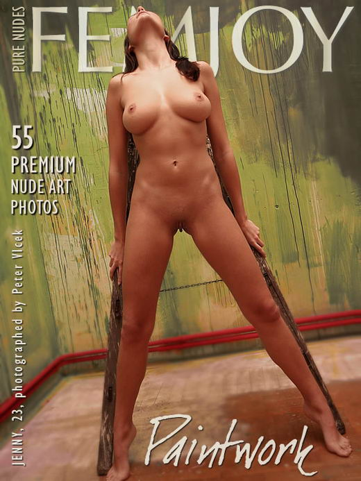 Jenny in Paintwork gallery from FEMJOY ARCHIVES by Peter Vlcek
