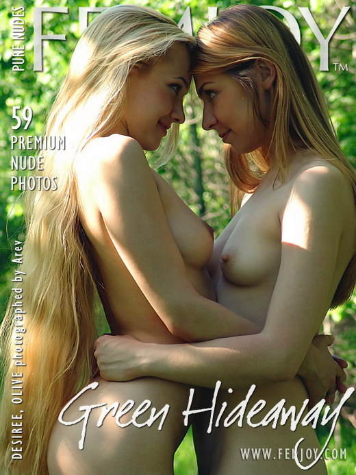 Desiree & Olive - `Green Hideaway` - by Arev for FEMJOY ARCHIVES