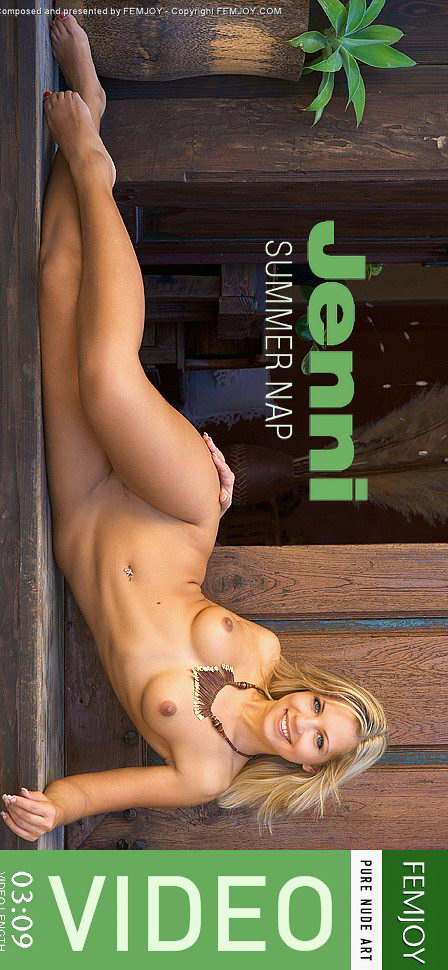 Jenni - `Summer Nap` - by Michael Sandberg for FEMJOY VIDEO
