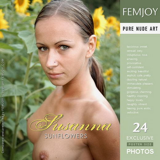 Susanna - `Sunflowers` - by Fred Klein for FEMJOY
