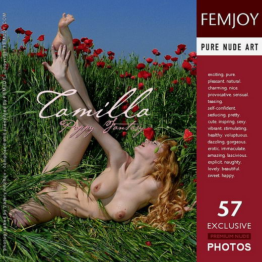 Tamilla - `Poppy Fantasy` - by Valery Anzilov for FEMJOY