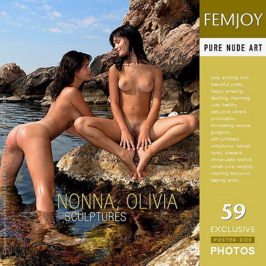 Nonna & Olivie - `Sculptures` - by Valery Anzilov for FEMJOY