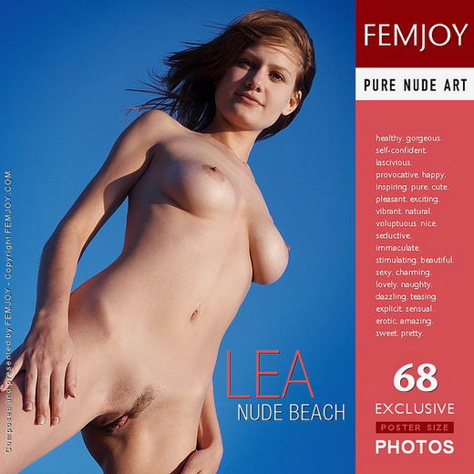 Lea - `Nude Beach` - by Oscar P for FEMJOY