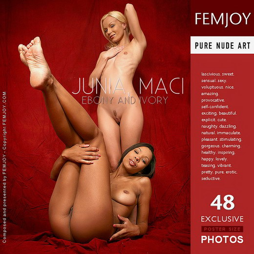 Junia & Maci - `Ebony and Ivory` - by Peter Vlcek for FEMJOY