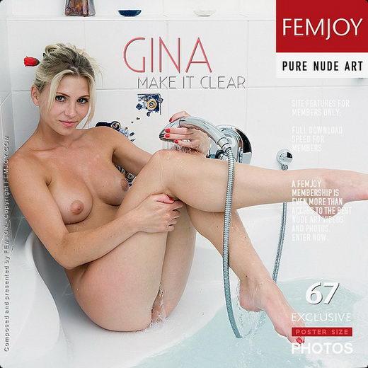 Gina - `Make It Clear` - by Lorenzo Renzi for FEMJOY