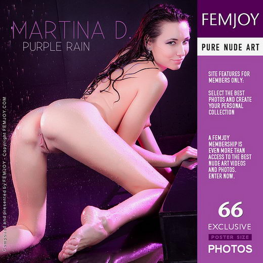 Martina D - `Purple Rain` - by Vaillo for FEMJOY