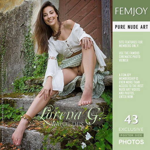 Lorena G - `Watch This` - by Stefan Soell for FEMJOY