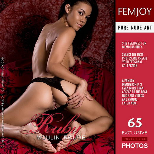 Ruby - `Moulin Rouge` - by Brett Michael Nelson for FEMJOY