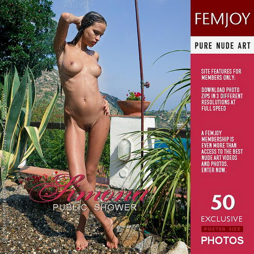 Simona - `Public Shower` - by Pedro Saudek for FEMJOY