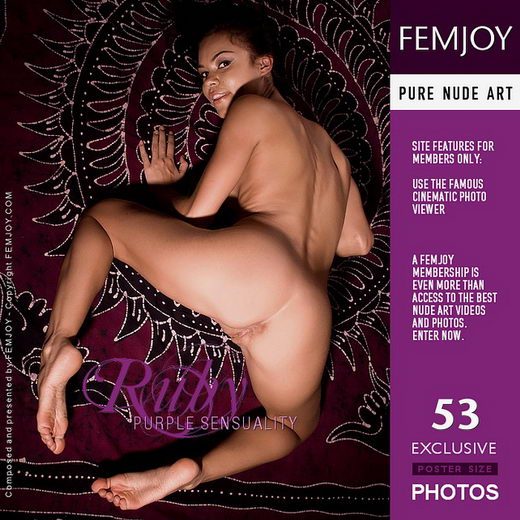 Ruby - `Purple Sensuality` - by Brett Michael Nelson for FEMJOY