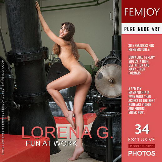 Lorena G - `Fun At Work` - by Stefan Soell for FEMJOY