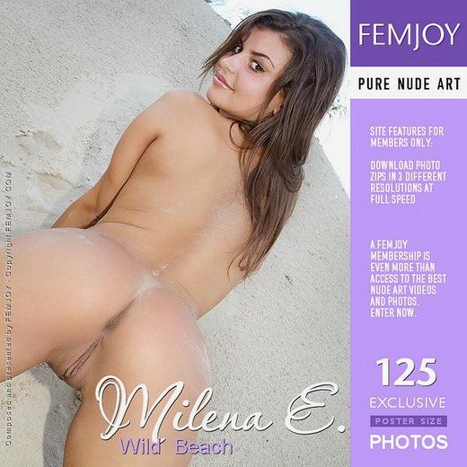 Milena E - `Wild Beach` - by Alexandr Petek for FEMJOY