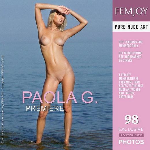 Paola G - `Premiere` - by Santiago Aztek for FEMJOY
