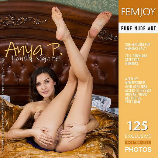 Anya P - `Lonely Nights` - by Alexandr Petek for FEMJOY