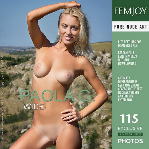 Paola G - `Wide` - by Santiago Aztek for FEMJOY