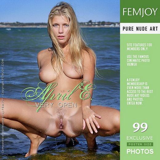 April E - `Very Open` - by Valery Anzilov for FEMJOY