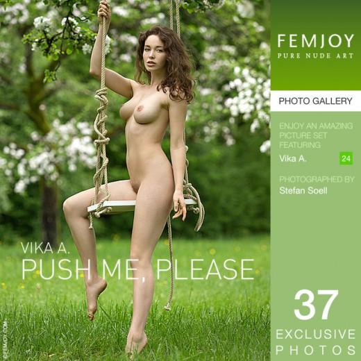 Vika A - `Push Me, Please` - by Stefan Soell for FEMJOY