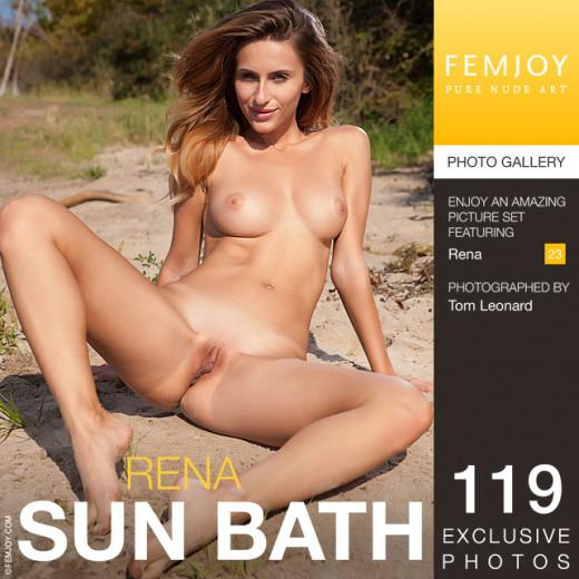 Rena - `Sun Bath` - by Tom Leonard for FEMJOY
