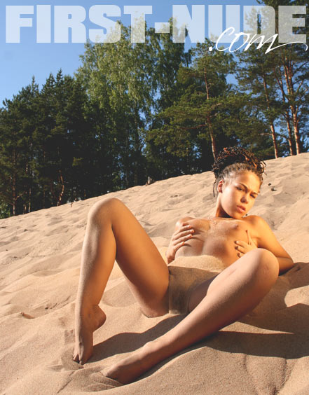 `Playing With The Sand` - for FIRST-NUDE