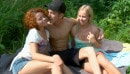 Hailey & Avina in Outdoor Teen Threesome Fucking video from FIRSTBGG
